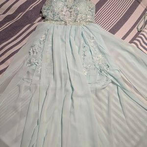 EUC Full length Tiffany blue dress